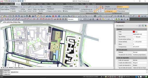 Plano de arquitectura en 4MCAD 19