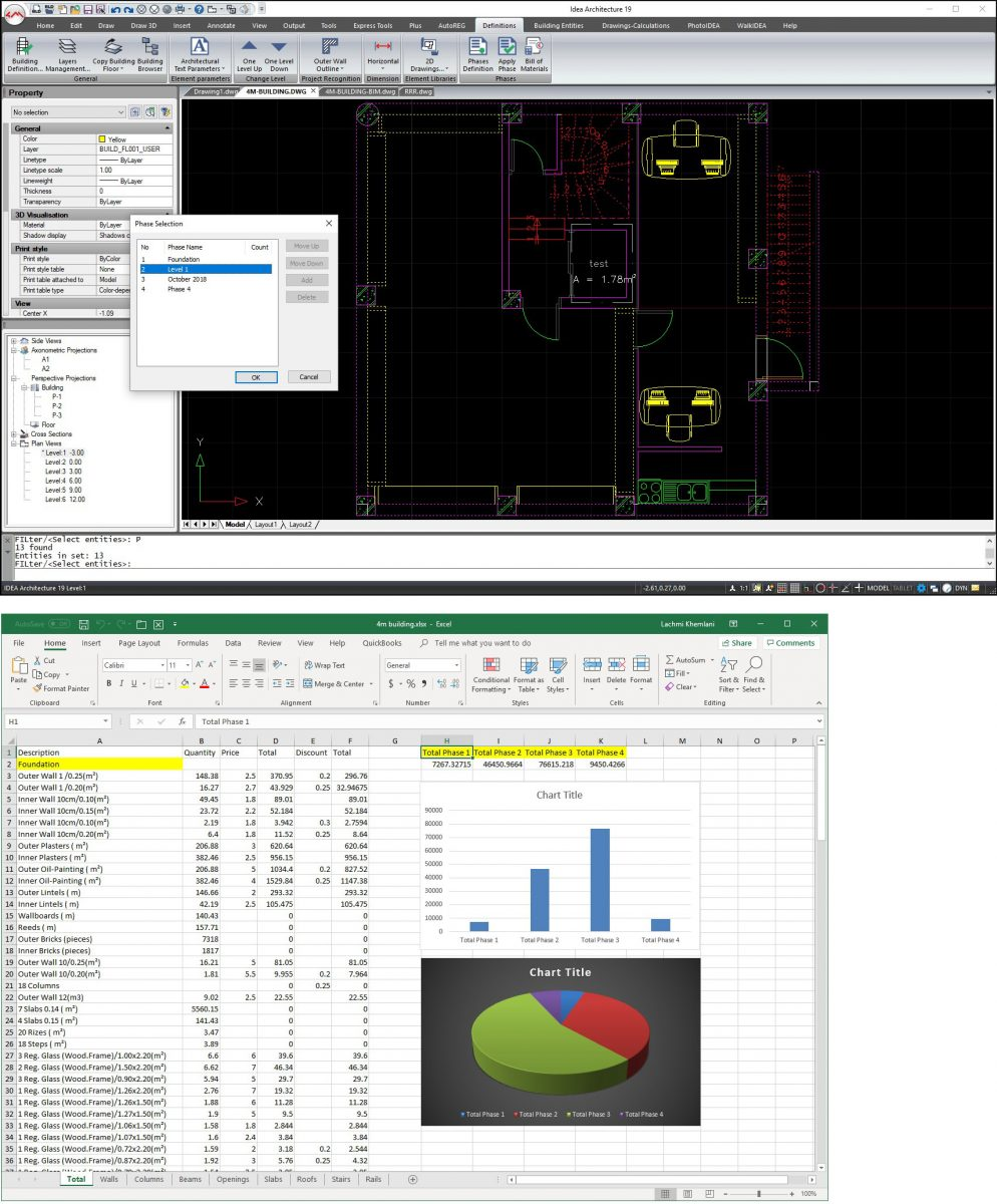 Lista de materiales en IDEA Arquitectura 19