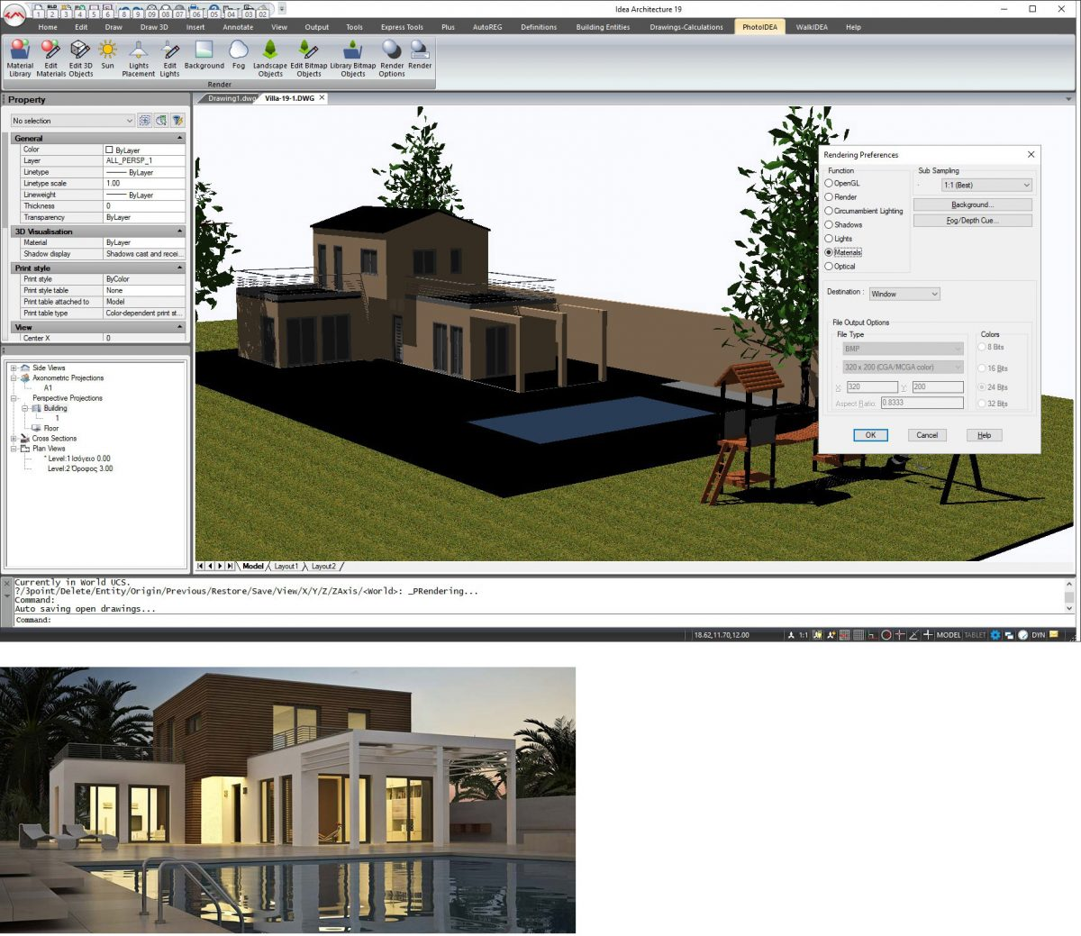 Render en  IDEA Arquitectura 19